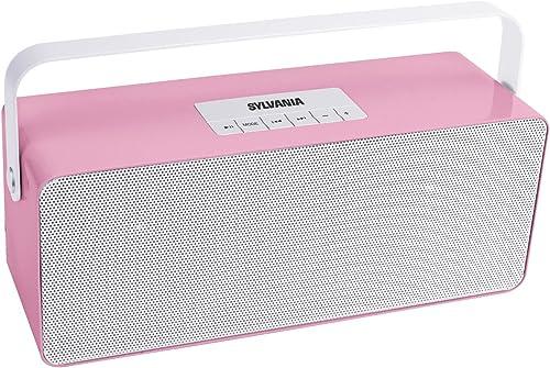 Sylvania SP672 Portable Bluetooth Speaker with Aluminium Handle Pink