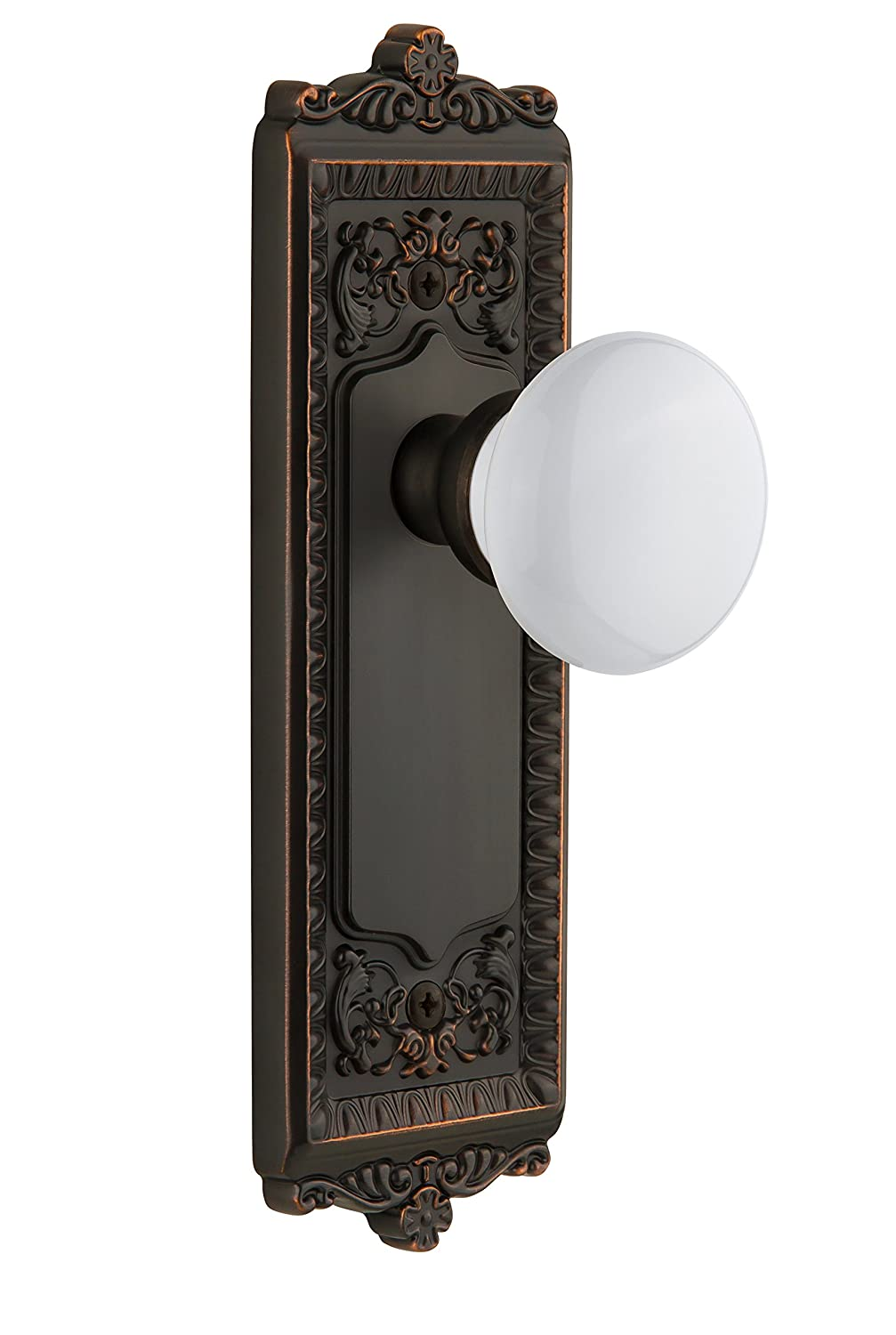 Grandeur Windsor Plate with Hyde Park Knob, Double Dummy, Timeless Bronze