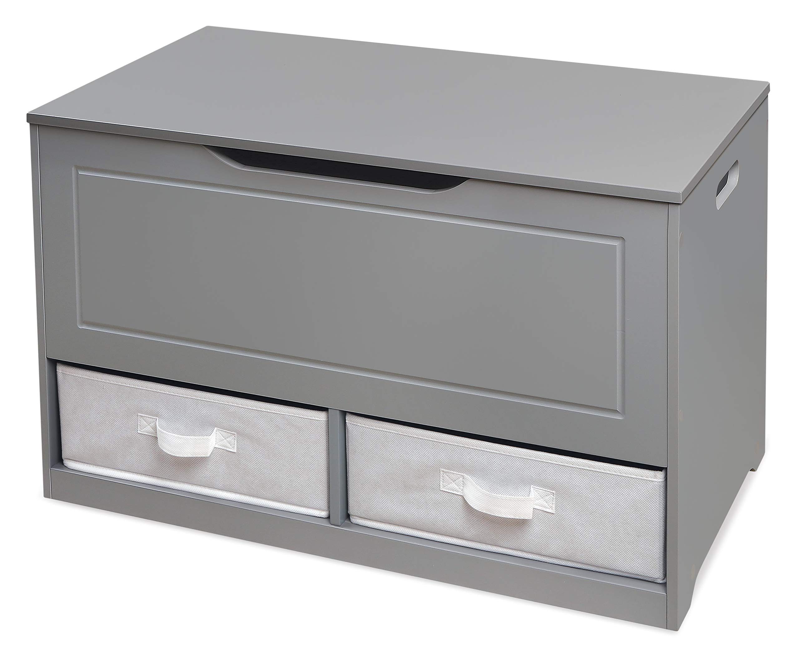 Badger Basket Up and Down Toy and Storage Box with 2 Basket Drawers, Gray/White by Badger Basket (Image #8)