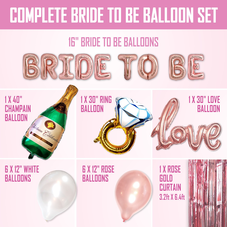 Amazon.com: Big BRIDE TO BE Balloons Bachelorette Party Decoration ...