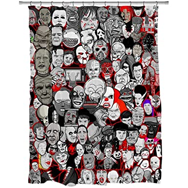 Titans Of Horror Shower Curtain Size 60u0026quot; ...