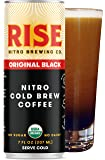 RISE Brewing Co.   Original Black Nitro Cold Brew Coffee (12 Pack) 7 fl. oz. Cans - Sugar, Gluten & Non-Dairy   Organic & Non-GMO   Draft Nitrogen Pour, Clean Energy, Low Acidity, & Naturally Sweet