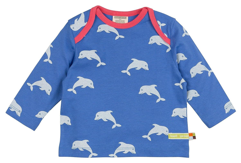Loud + Proud Shirt, Druck, Hauts à Manches Longues Bébé Fille Hauts à Manches Longues Bébé Fille Bleu (Pacific) 12 Mois 1004