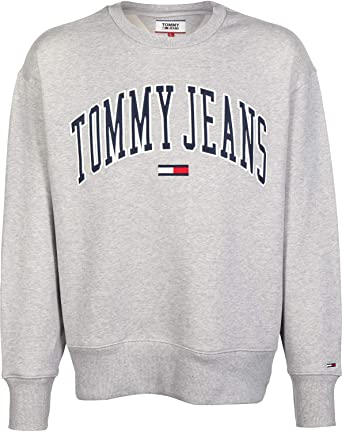 093a8c0d Tommy Jeans Men's Clean Collegiate Sweatshirt, Grey at Amazon Men's Clothing  store: