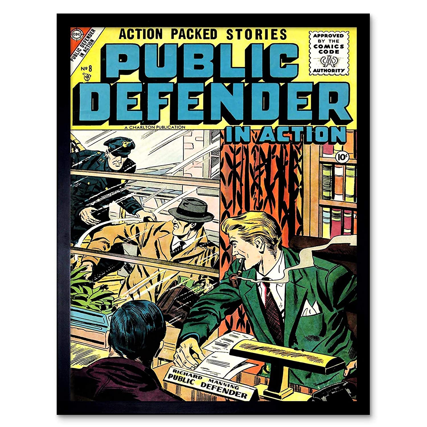Wee Blue Coo Comic Book Cover Public Defender Action Crime Manning Police USA Unframed Wall Art Print Poster Home Decor Premium