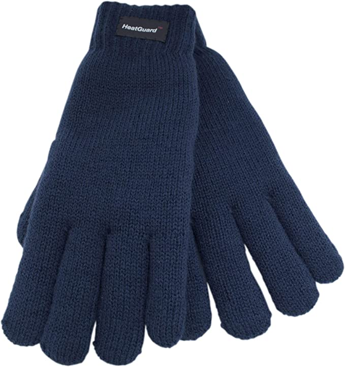 MEN/'S INSULATED THERMAL GLOVES LABEL 40GM COSY WARM WINTER ONE SIZE 65