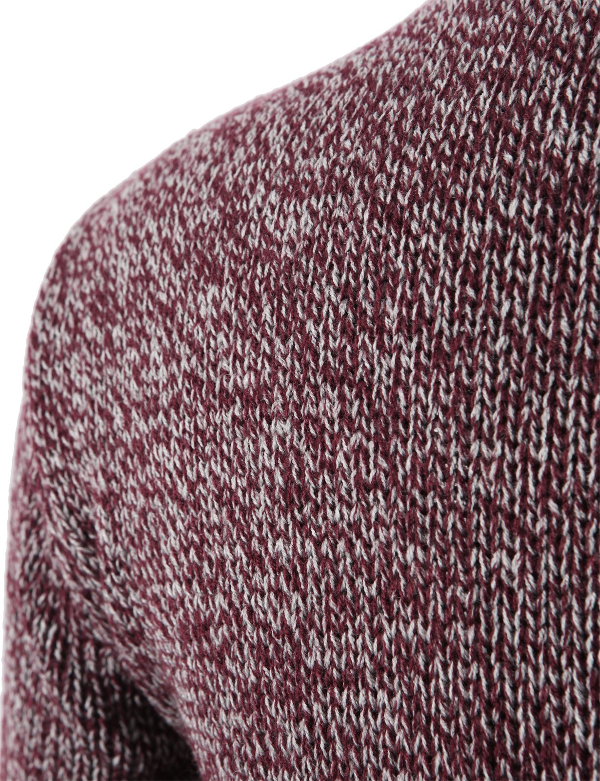 H2H Mens Slim Fit Basic Ribbed Thermal Turtleneck Pullover Sweaters Maroon US M/Asia L (KMOSWL0122) by H2H (Image #4)