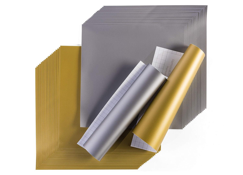 "Permanent Adhesive Decal Bulk Roll Cricut Premium Vinyl White 12/"" x 360/"""