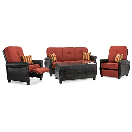 Sensational Amazon Com La Z Boy Outdoor Abre 4Pc Rc R Outdoor Furniture Pdpeps Interior Chair Design Pdpepsorg