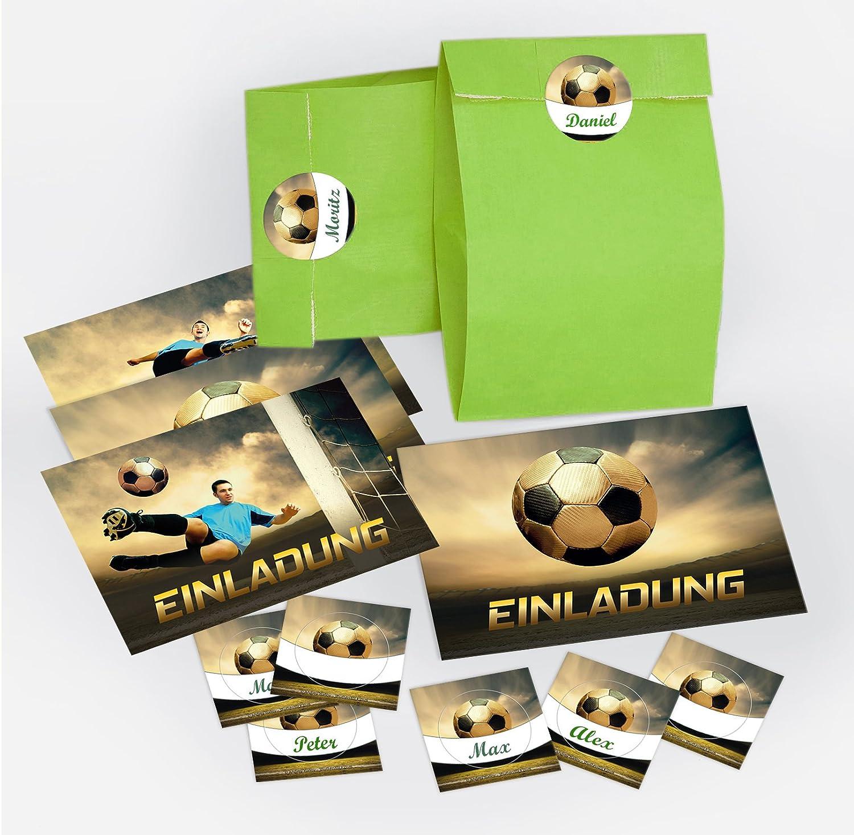 9 Einladungskarten Kindergeburtstag Fussball Fussball Jungen Jungs