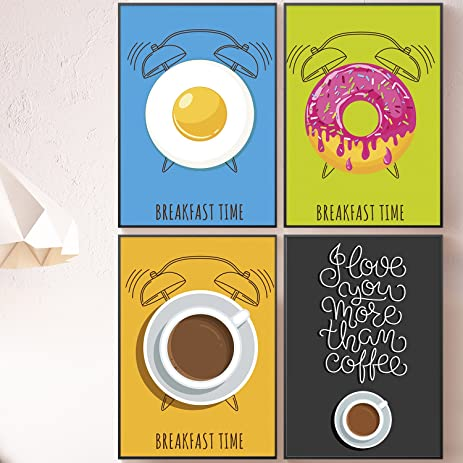 Amazon.com: Modern Kitchen Wall Art, Set of FOUR 11x17 Posters Set ...