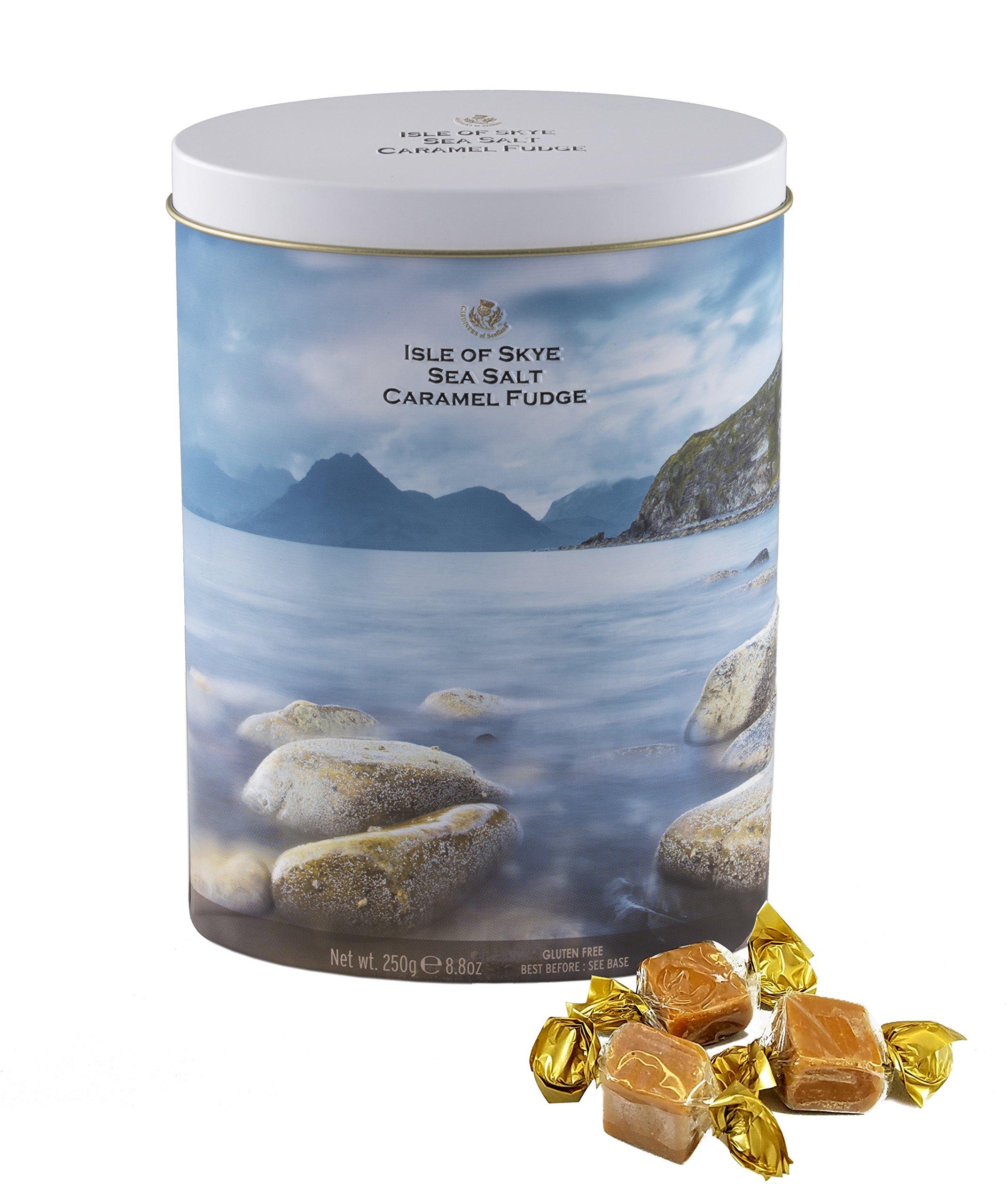 Gardiners of Scotland Isle of Skye 8.8 Ounce Sea Salt Caramel Fudge in Decorative Tin