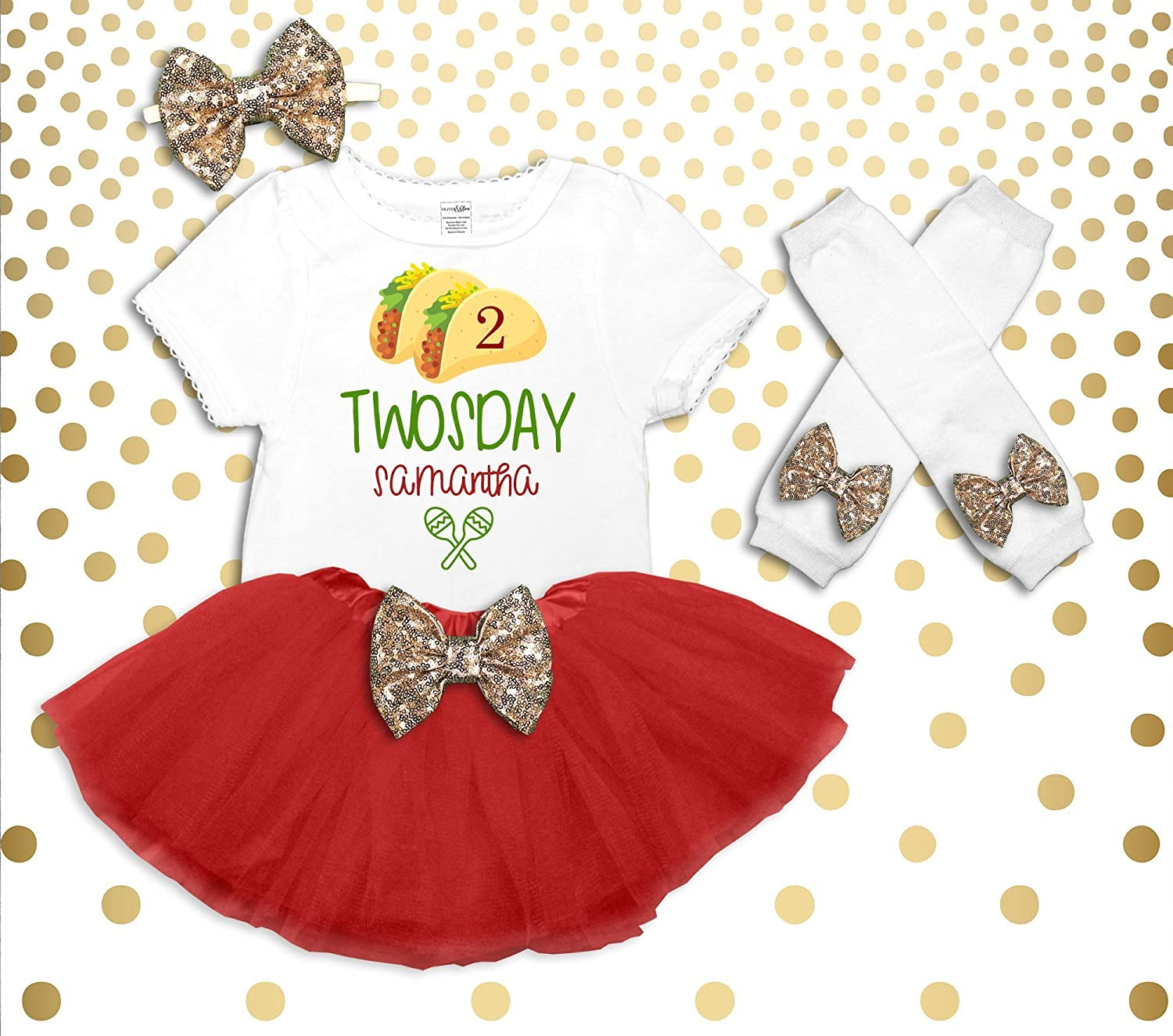 Girl's Taco Twosday Shirt Toddler Girl's 2nd Birthday Shirt 2nd Birthday Outfit Fiesta Birthday Outfit Taco Birthday Outfit Taco Tuesday