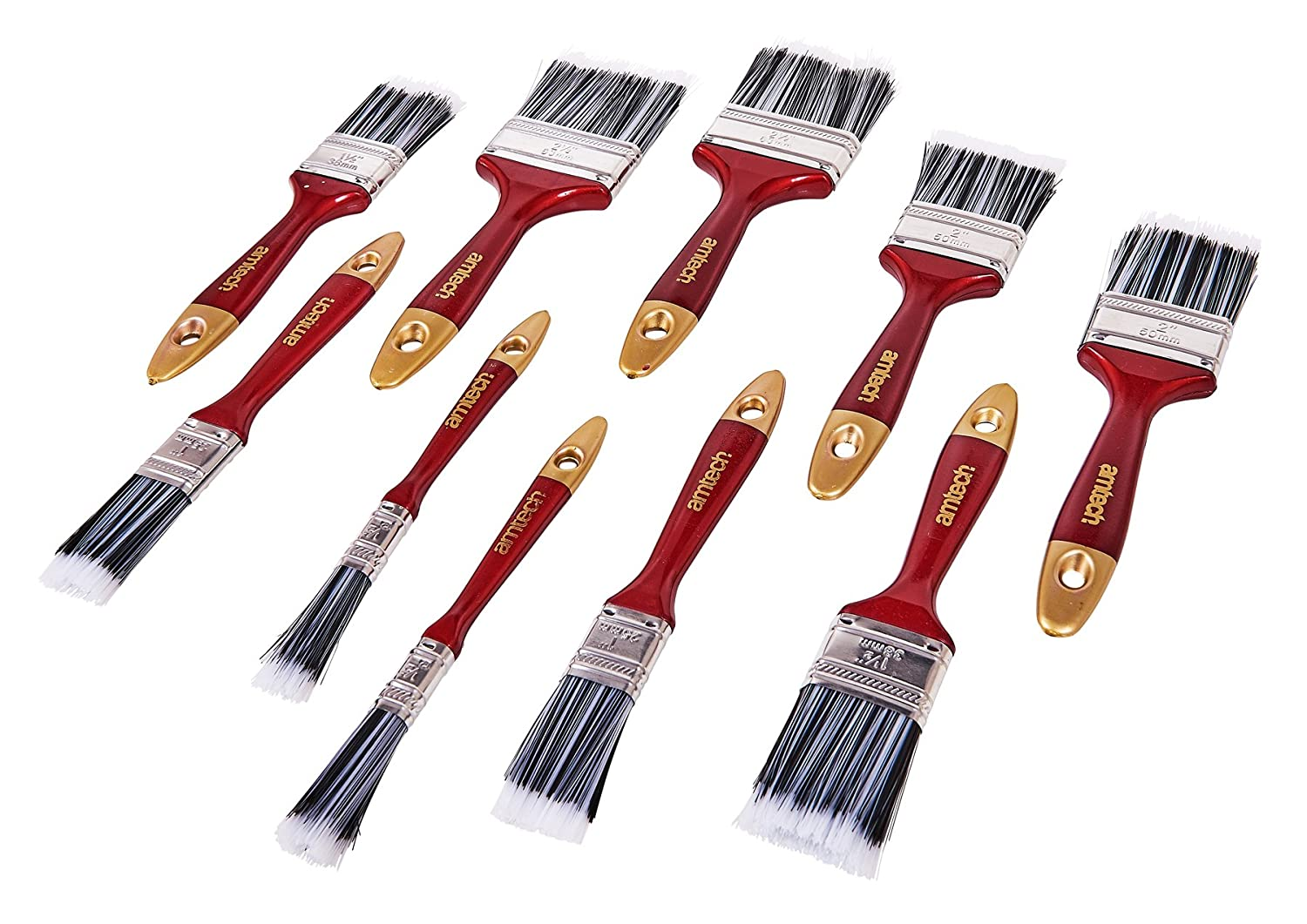 Am-Tech 10 Stü ck Paint Brush Set, S3940 AM-S3940