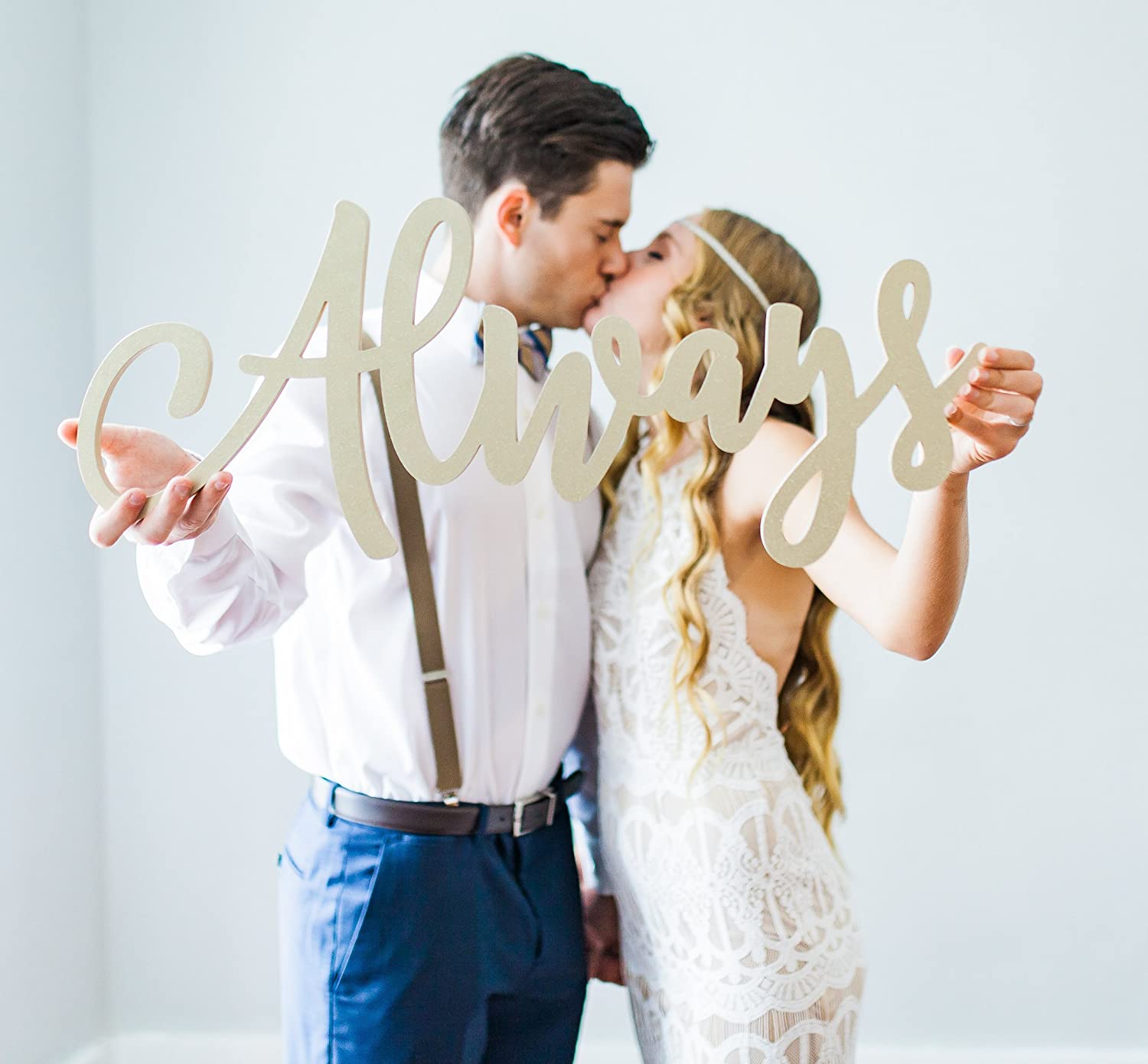 Photography Sign for Wedding Portrait Bride /& Groom Decoration Sign Cutout Words Wedding Sign Always Photo Prop