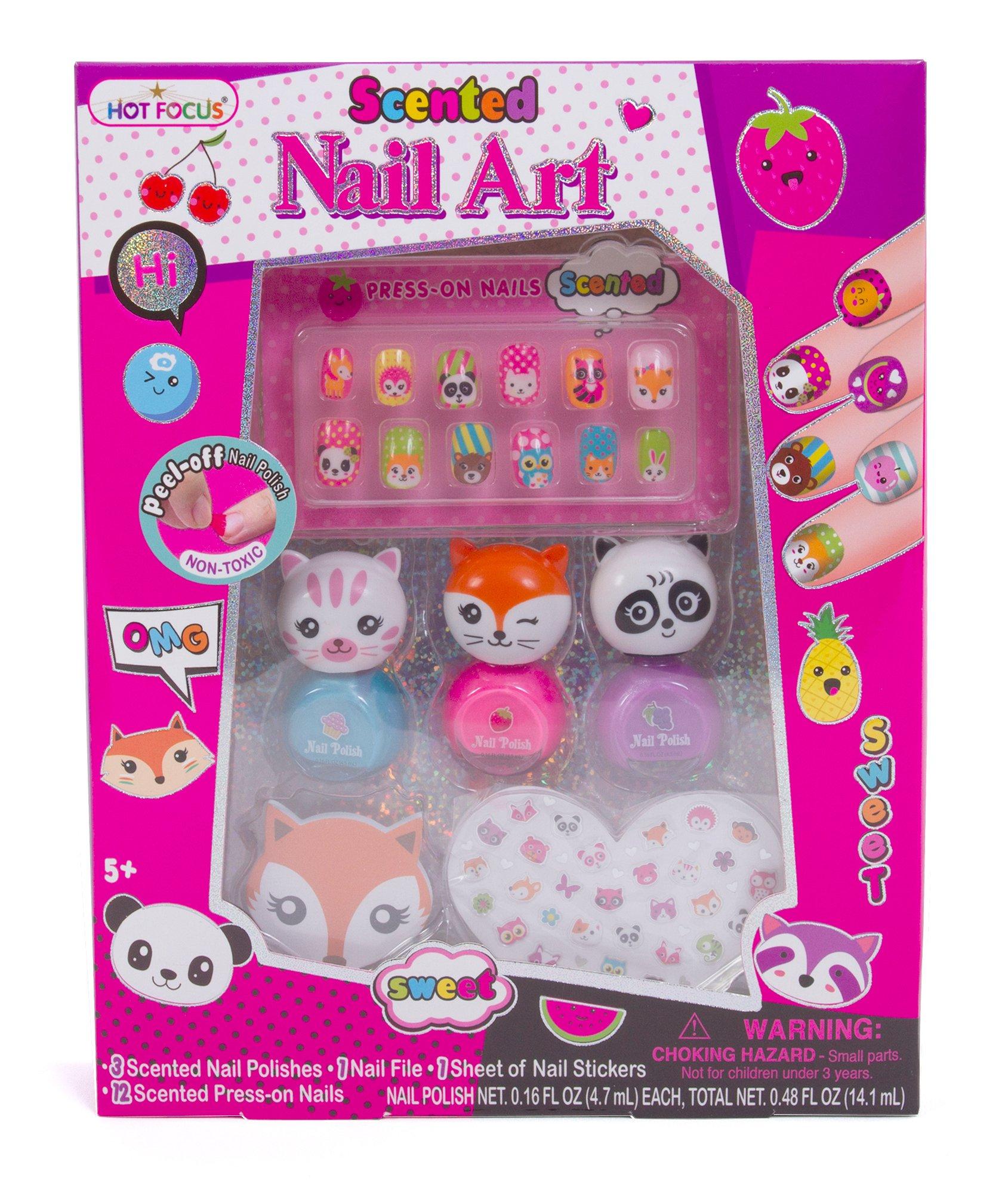 Amazon Com Smitco Llc Kids Nail Polish: Amazon.com: Hot Focus Scented Nail Art Kit