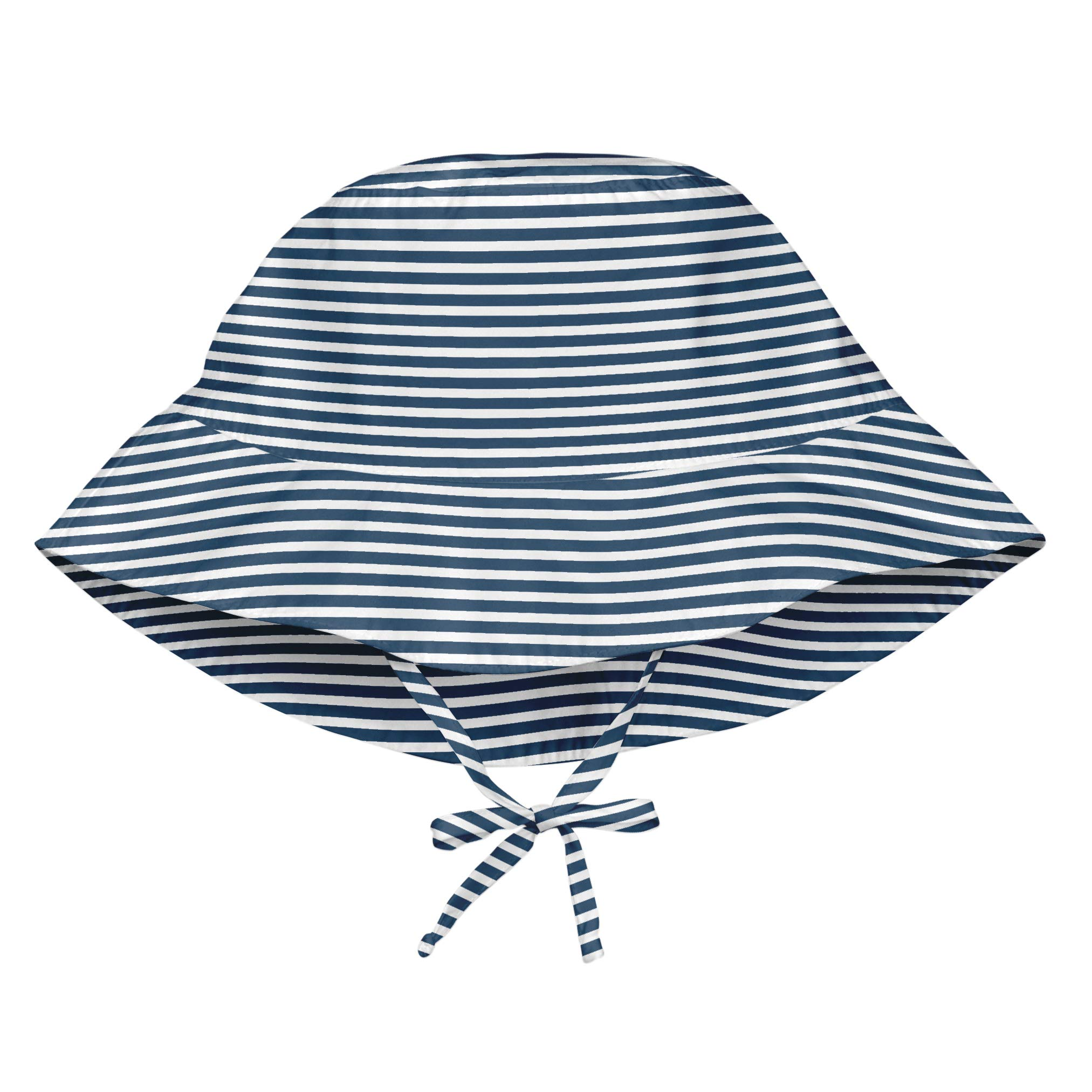 i play. Girls' Toddler Bucket Sun Protection Hat Navy Pinstripe 2T-4T, 2T/4T