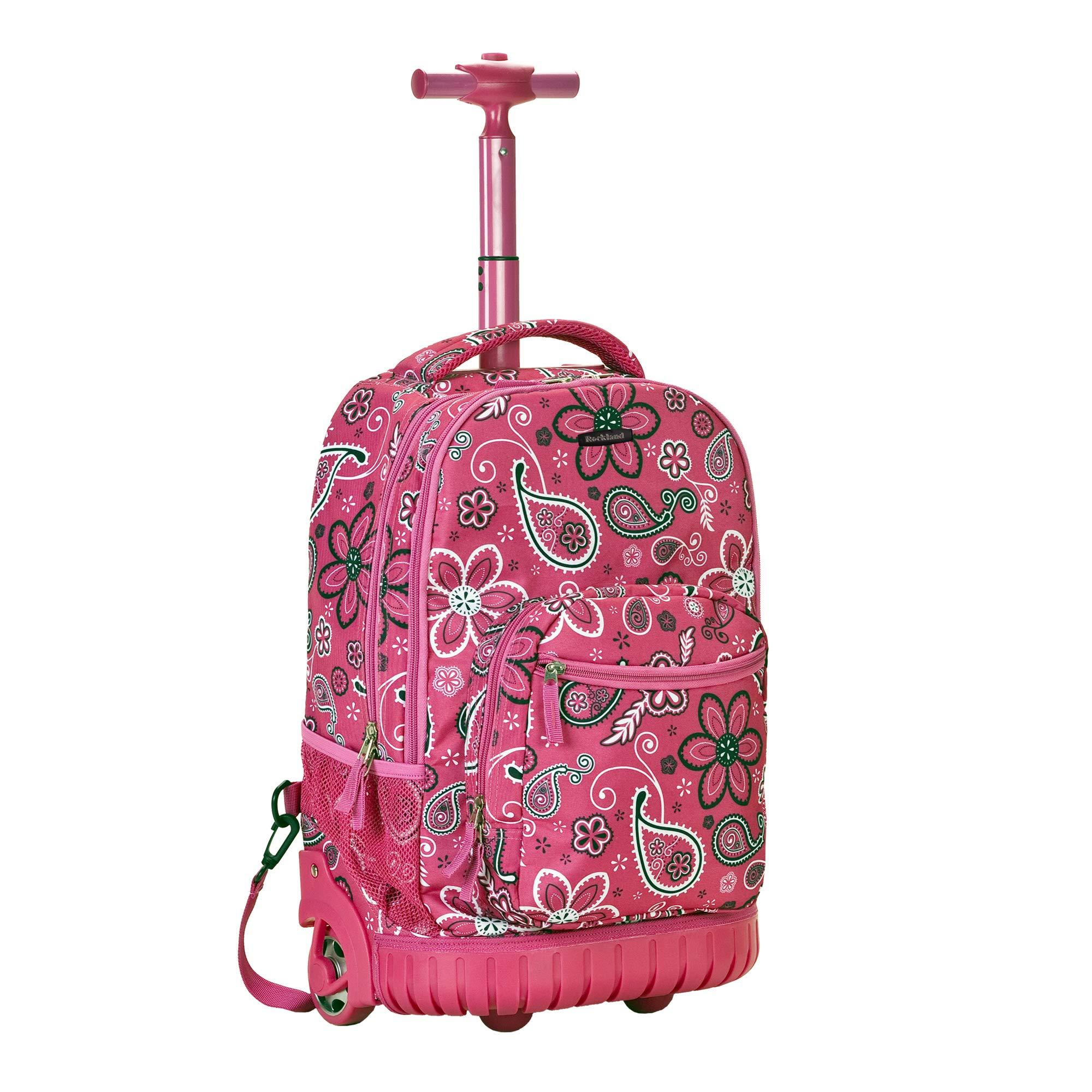 Rockland Luggage 19 Inch Rolling Backpack Printed, Bandana, Medium