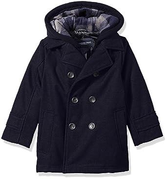 f4e759f78 Amazon.com  London Fog Boys Double Breasted Faux Wool Hooded Coat ...