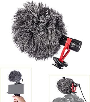 BY-MM1 Cardiod Shotgun Video Top Microphone MIC Video for iPhone Samsung Camera