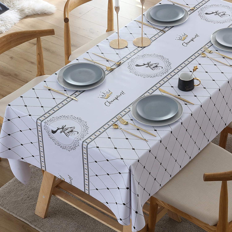 LIUJIU Mantel rectangular impermeable de PVC, mesa de comedor, fiesta de autoservicio y campamento, 70 x 70 cm