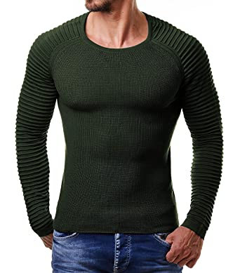 70ced5d9c37d COOFANDY Men's Slim Fit Cable Knit Long Sleeve Crew-Neck Pullover Sweater  (S,