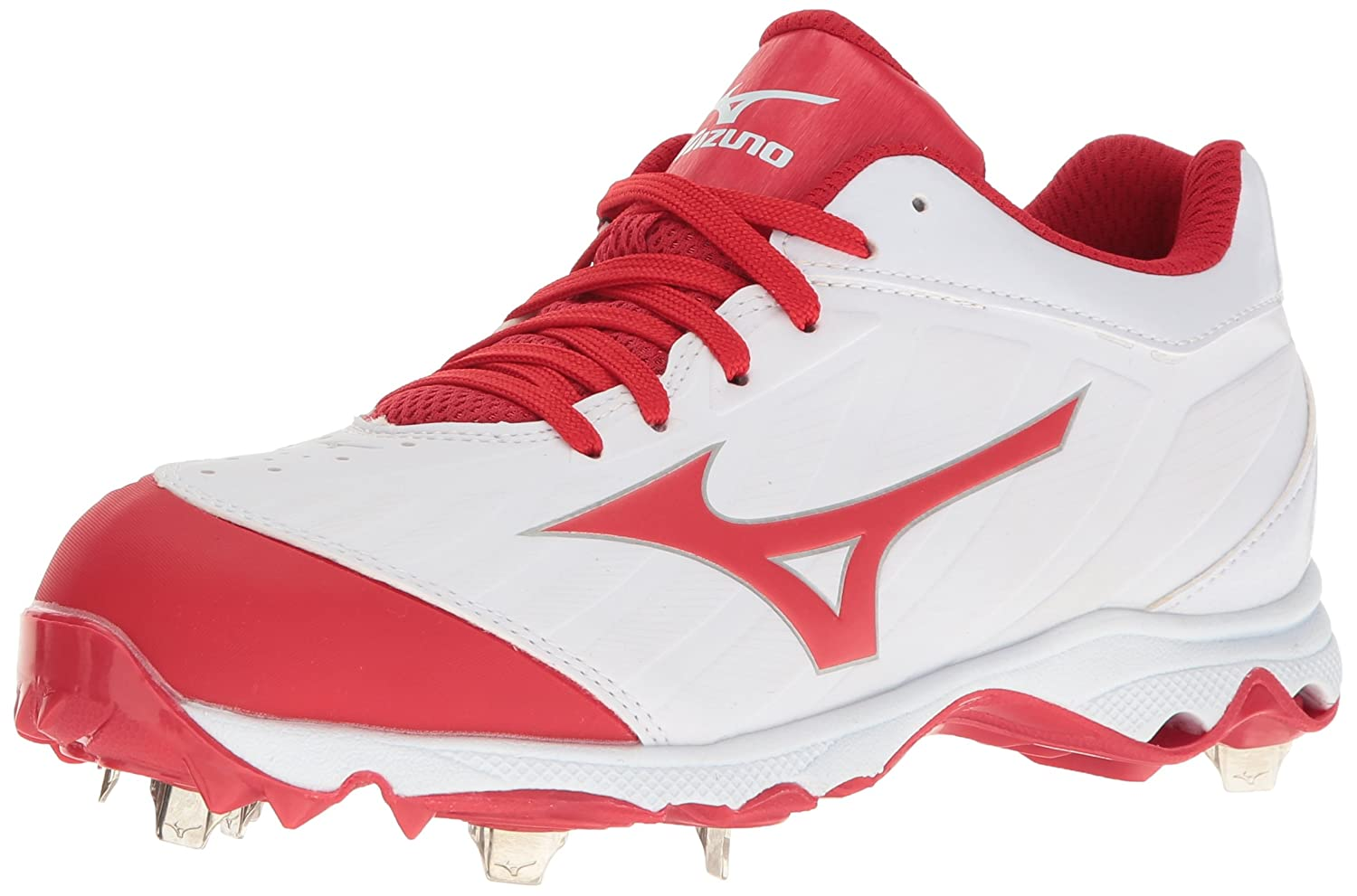 White-red Mizuno Womens 9-Spike Advanced Sweep 3 Softball shoes