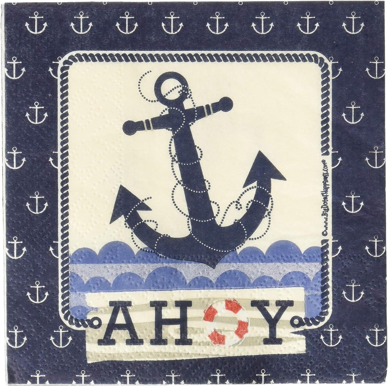 Ahoy Nautical - Beverage Napkins (16 Count)