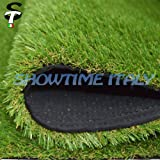 Prato sintetico 40mm calpestabile finta erba tappeto manto giardino 4colori 2x10