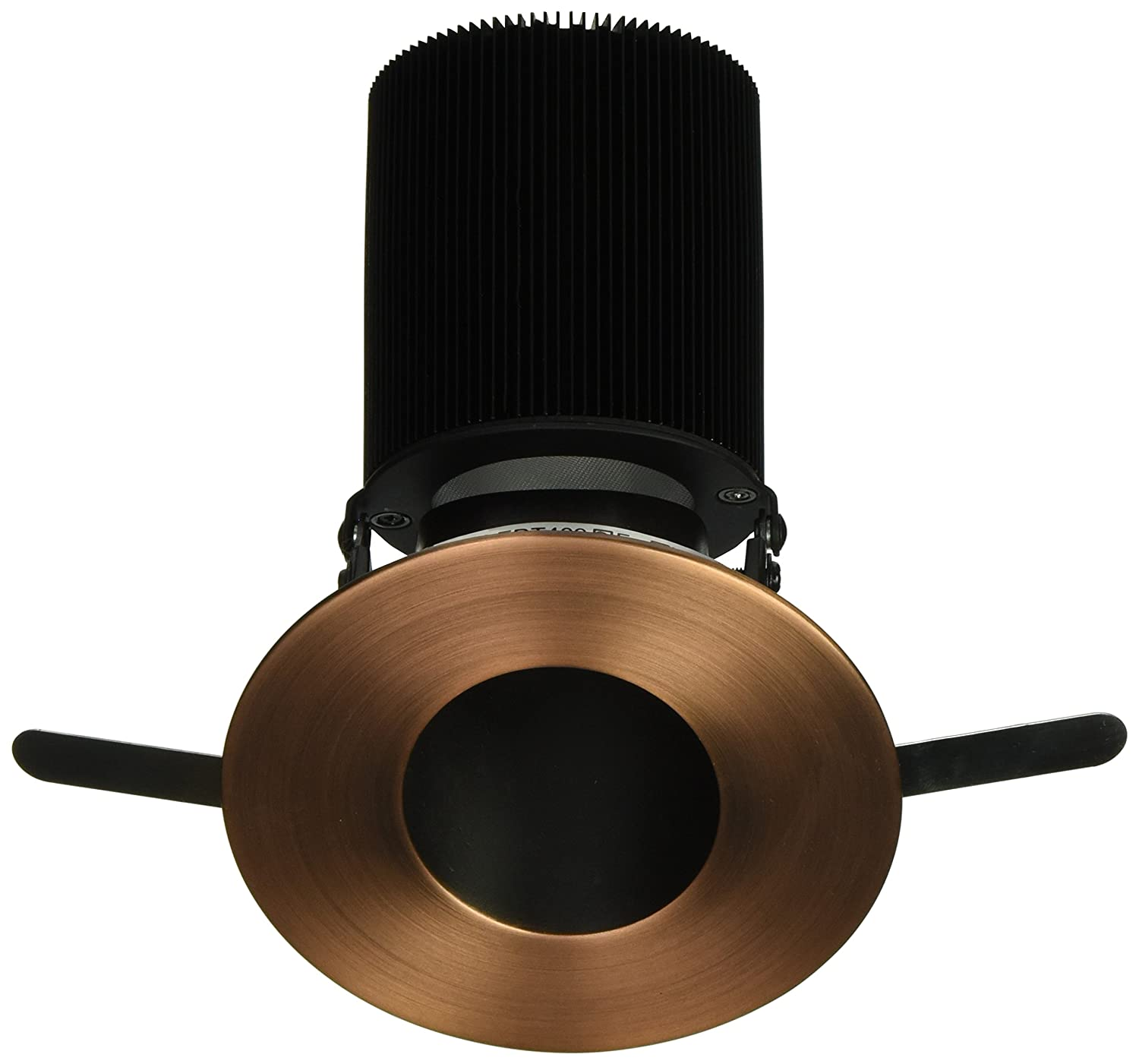 WAC Lighting HR-2LED-T409F-35CB Tesla Cool Light 3500K LED 2-Inch Adjustable 30-Degree to 45-Degree Round Trim with 45-Degree Beam Angle