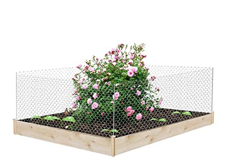 Amazon.com : V Protek Raised Herb Bed Plant Cage with Mesh ...