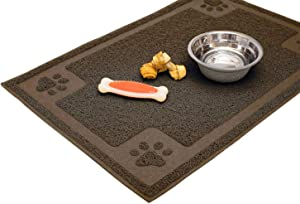 Cavalier Pets, Dog Bowl Mat for Cat and Dog Bowls, Silicone Non-Slip Absorbent Waterproof Dog Food Mat, Easy to Clean, Unique Paw Design…