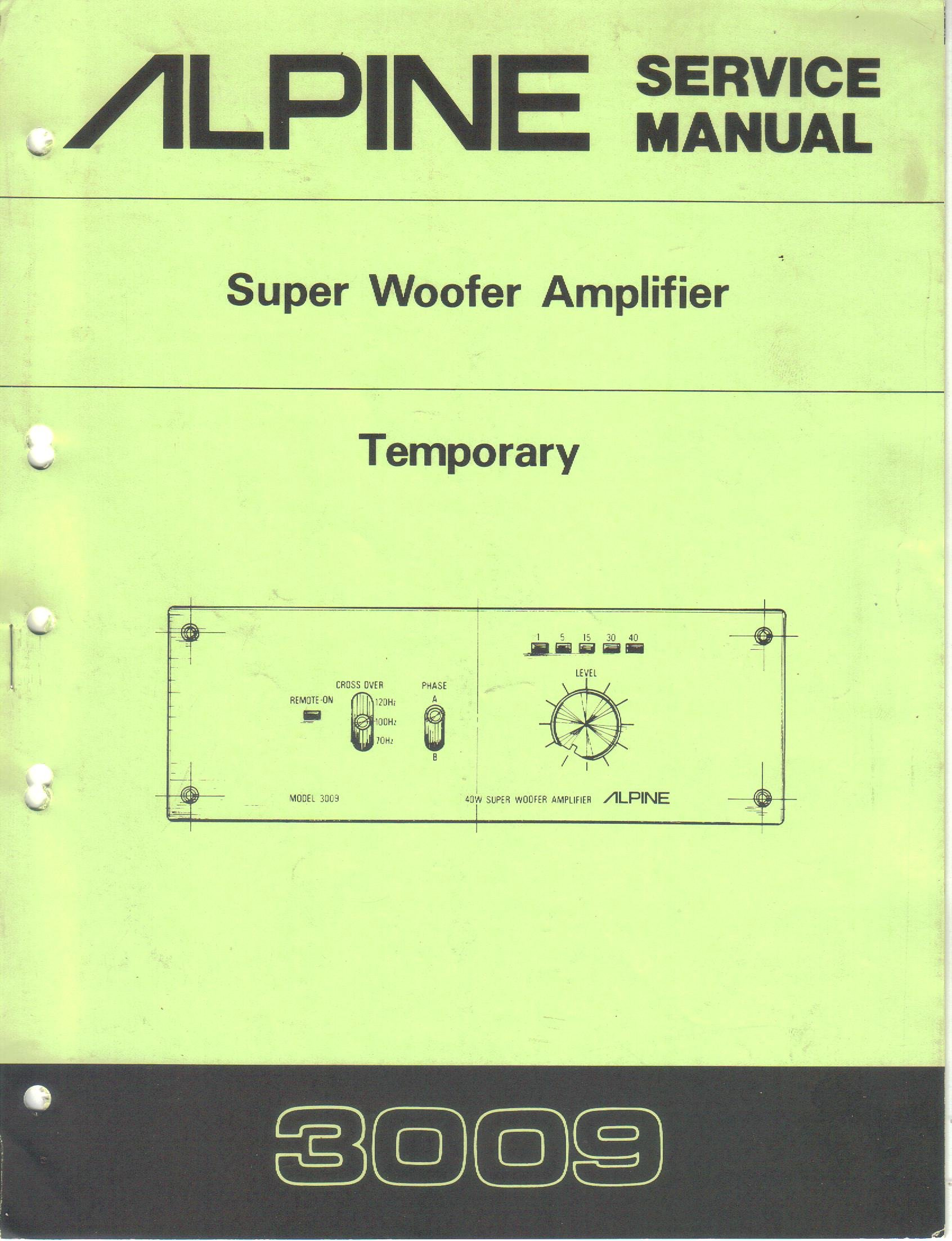 service wiring diagram alpine 3009 super woofer amplifier  temporary service manual service entrance panel wiring diagram alpine 3009 super woofer amplifier