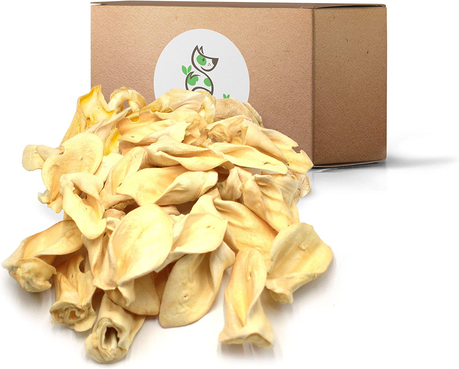 Nature Gnaws Cow Ears for Dogs - Premium Natural Beef Chews - Simple Long Lasting Dog Treats for Large Dogs and Aggressive Chewers - Rawhide Free