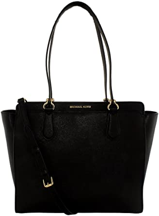 df89834e678a Amazon.com: Michael Michael Kors Dee Dee Large Leather Tote, Black ...