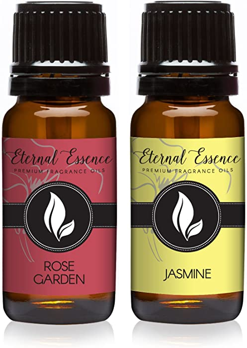 Pair (2) - Rose Garden & Jasmine - Premium Fragrance Oil Pair - 10ml