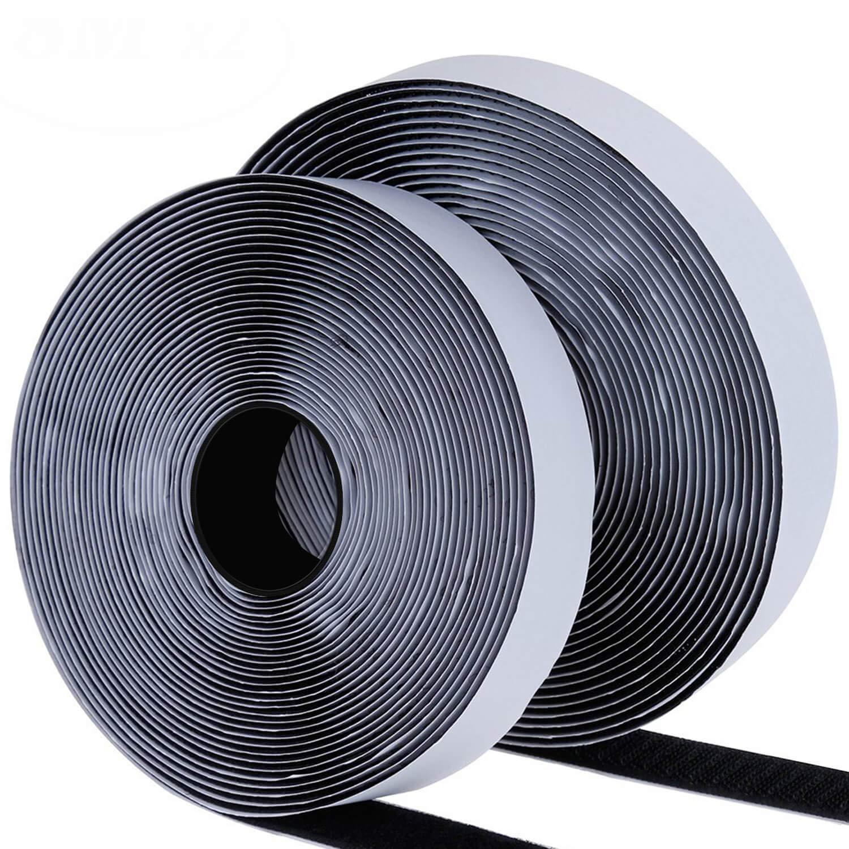 Blooven Autoadesivo Nastro Adesivo 8M Universale Velcro Regalo Forbici (Bianco)