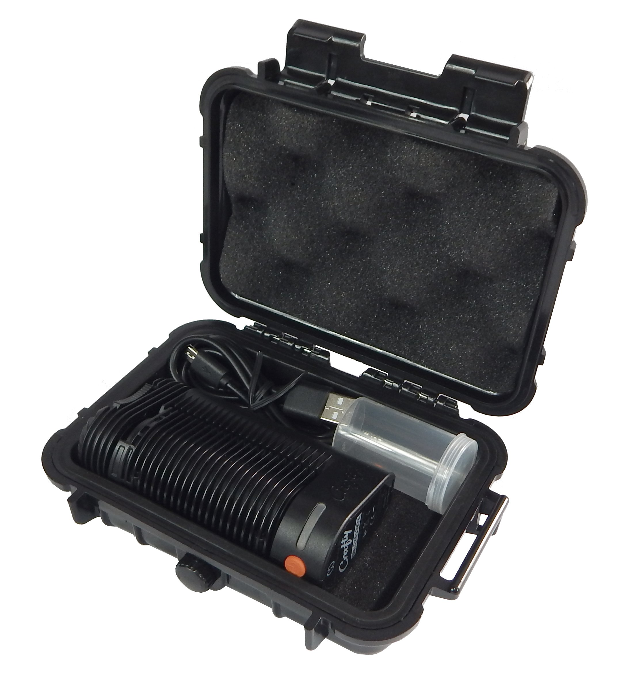CLOUD/TEN Storz and Bickel Crafty Handheld Carry Case - Smell Proof Odor Resistant Protective Airtight Carry Box Designed to Hold Storz and Bickel Crafty, Charge Cable and Included Herb Canister
