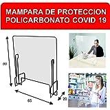 Pantalla Protección Mostrador 70x60cm - Fabricada en PET ...