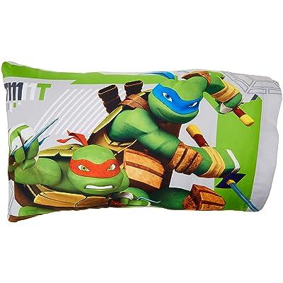 Franco Teenage Mutant Ninja Turtles Green & Gray Reversible Pillowcase (Standard): Home & Kitchen