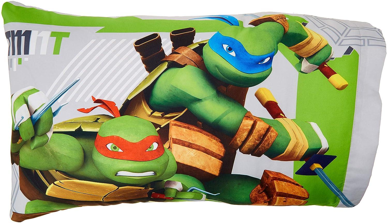 Franco Teenage Mutant Ninja Turtles Green /& Gray Pillowcases Standard
