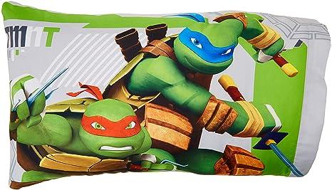 Franco Teenage Mutant Ninja Turtles Green & Gray Reversible Pillowcase (Standard)