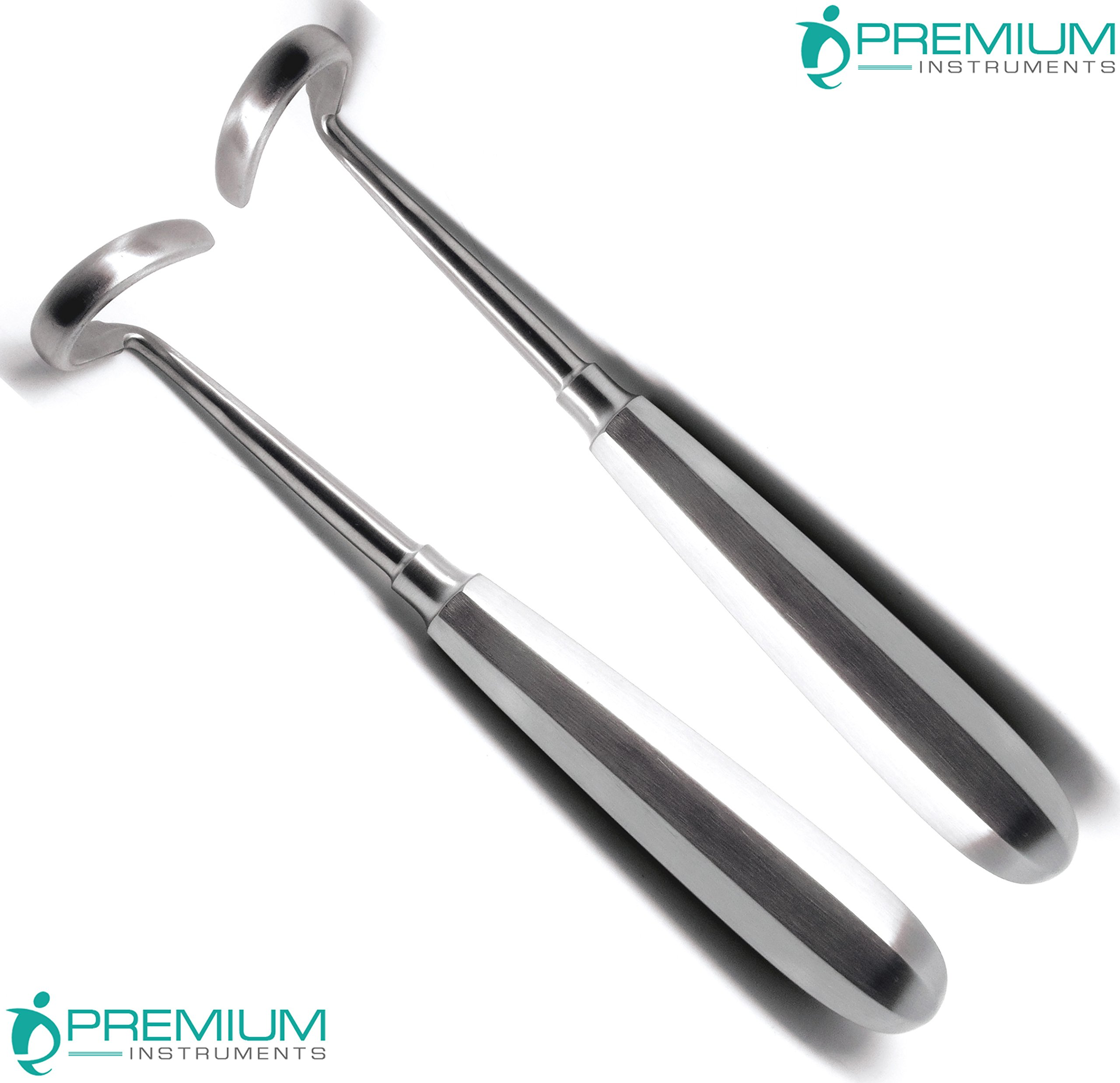 2 Pcs Doyen Rib Elevators Right & Left 7'' Surgical Curved Blade 3.2cm Instruments