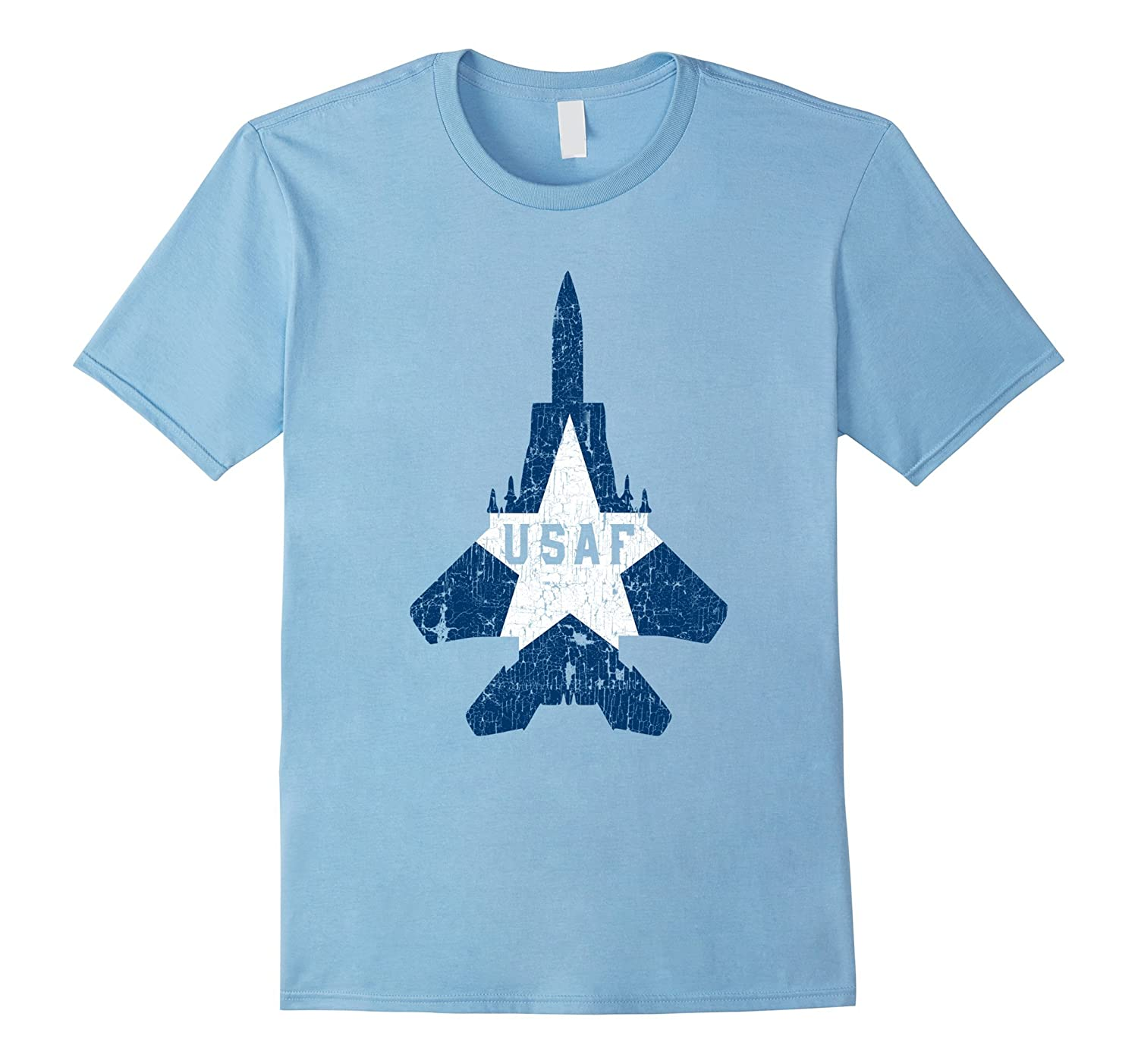 Military Aircraft Pilot Gifts T Shirt USAF Proud Soldier Tee-ANZ
