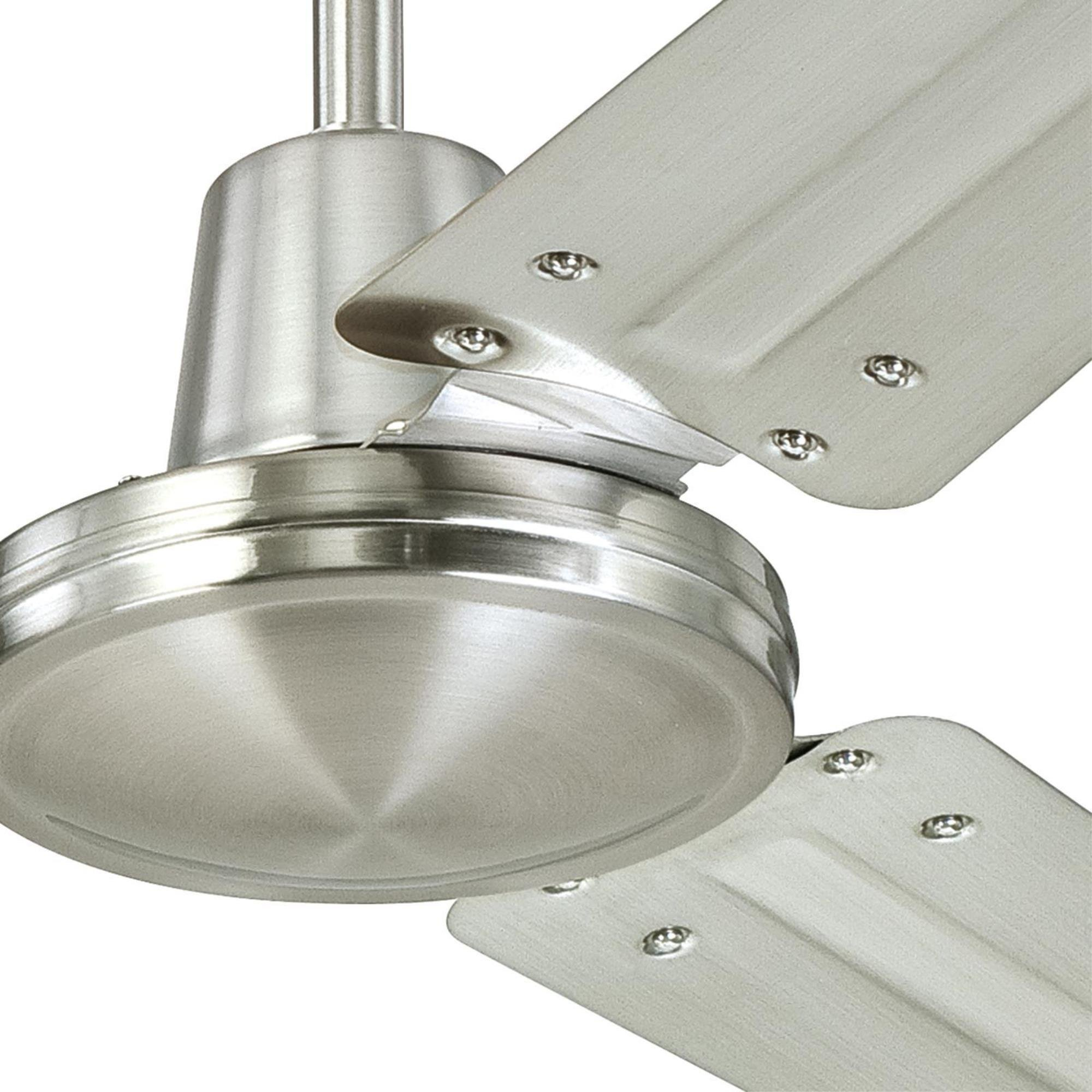 Westinghouse Lighting 7861400 Industrial 56-Inch Three-Blade Indoor Ceiling Fan, Brushed Nickel with Brushed Nickel Steel Blades by Westinghouse Lighting (Image #4)