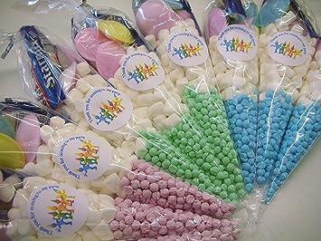 50 bolsas prerellenas de dulces conos para niños, para ...