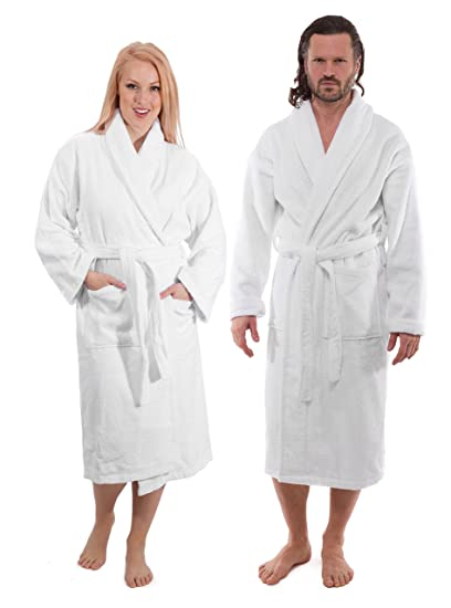 Image Unavailable. Image not available for. Color  Luxury Terry Cotton  Cloth Plush Bathrobe ... 80af7309f