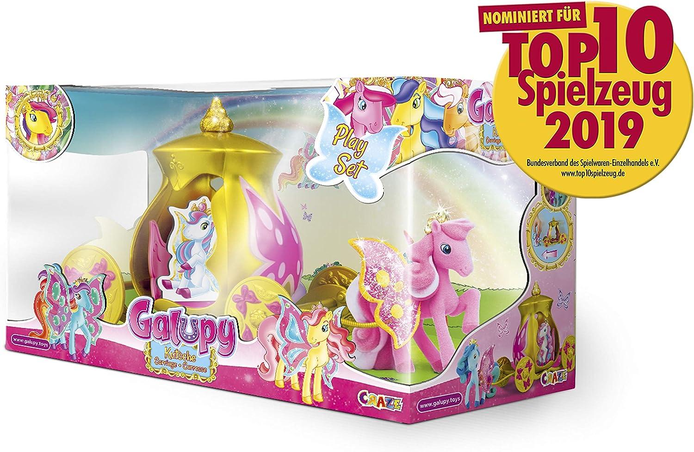 CRAZE- Carro Pony GALUPY Carruaje para Bodas para Ponis de colección Incl. Figura del Caballo 14073, Multicolor , color/modelo surtido