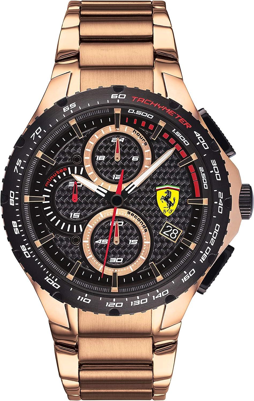 Scuderia Ferrari Reloj para de Cuarzo con Correa en Acero Inoxidable 830765
