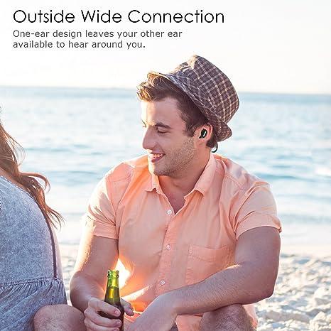 Mini auriculares Bluetooth, Ifecco In-ear Auriculares inalámbricos más pequeños con micrófono Llamadas manos libres, para teléfonos inteligentes y otros ...